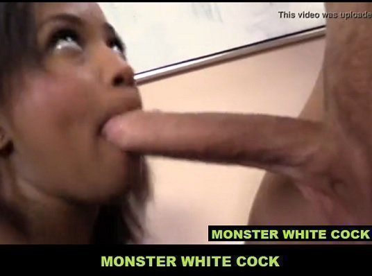 Black Chick Fucking with Two Big White Cocks HD