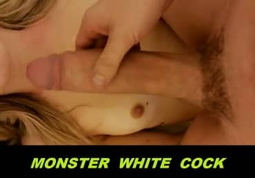 12 Inches Of Huge White Cock And Wife Teen Playing
