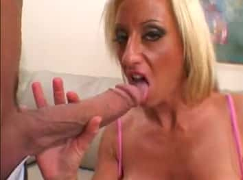 Blonde Cougar Fucks Hard With Monster White Cock