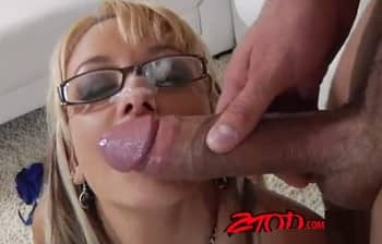 Horny Briana Taking Big Hard Cock On The Couch HD