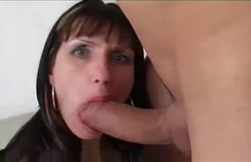 Enormous Fat Cock Enlarges Mom Huge Tits