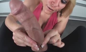 The Best Handjob With Extra Large Monster Cock