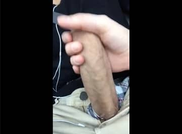 Handjob Inside Car With Big Dick