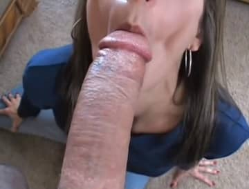 Big Cock Measured And Sucked By Horny Milf