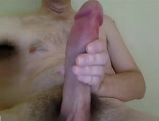 Daddy Monster Cock Masturbating On Webcam