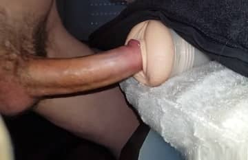 Guy With Big Cock Fucking A Fleshlight Solo