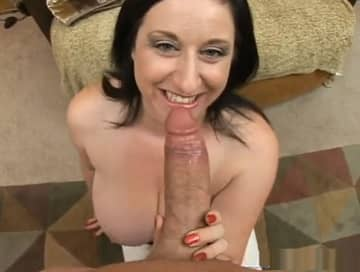 Monster Cock Sucked By Brunette BBW