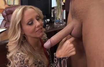 Blonde Milf Julia Ann Likes Huge White Dick