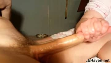 Wife Jerks Huge Cock In Amateur Porn Video