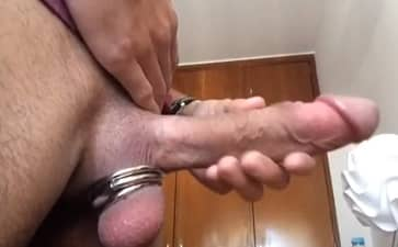Ball ring with Big Dick Solo HD