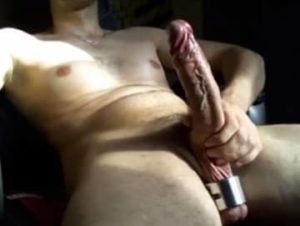 White Guy Jerking Monster Cock In Hot Video
