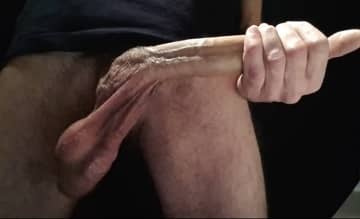 Mature White man plays with Long Cock Solo