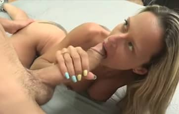 Blonde Mature Enjoys with Monstercock Video