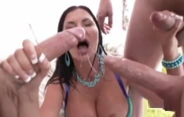 Mature Devasted In Gang Bang With Big White Cocks