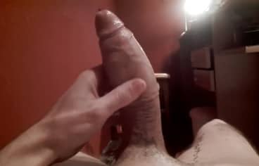 White Guy Filming his Fat Cock Solo