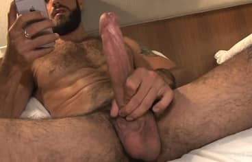 Alex Jerking 9 Inch Cock and Cumming